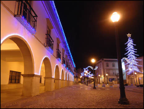 Christmas tree lights in Tavira in the Algarve