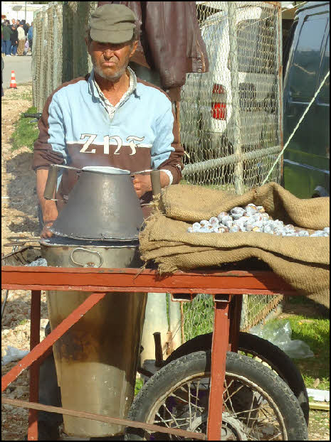 Hot chestnuts for sale in Estoi