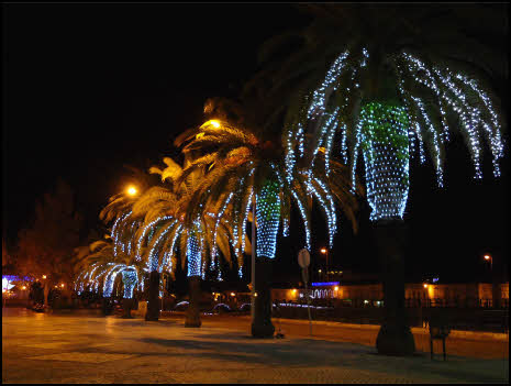 Tavira lights at Christmas