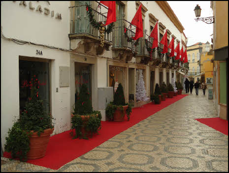 Christmas decorations in old Faro
