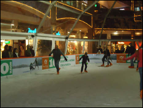 ice skating at Christmas