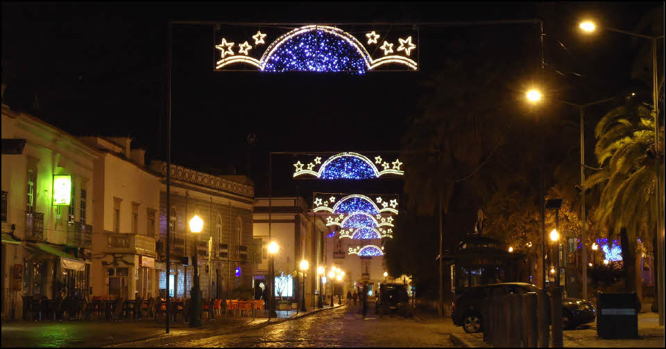 Tavira Christmas lights the Algarve