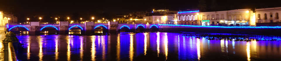 Tavira christmas lights in the algarve portugal